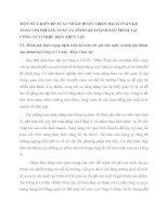 MỘT SỐ Ý KIẾN ĐỀ XUẤT NHẰM HOÀN THIỆN HẠCH TOÁN KẾ TOÁN CHI PHÍ SẢN XUẤT VÀ TÍNH GIÁ THÀNH SẢN PHẨM TẠI CÔNG TY CƠ KHÍ  ĐIỆN THỦY LỢI