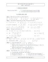 Đề cương ôn tập học kỳ I toán 8