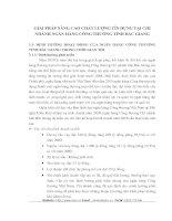 GIẢI PHÁP NÂNG CAO CHẤT LƯỢNG TÍN DỤNG TẠI CHI NHÁNH NGÂN HÀNG CÔNG THƯƠNG TỈNH BẮC GIANG