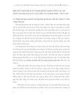 MỘT SỐ Ý KIẾN ĐỀ XUẤT NHẰM HOÀN THIỆN CÔNG TÁC KẾ TOÁN CHI PHÍ SẢN XUẤT TẠI CÔNG TY CƠ KHÍ ĐIỆN - THỦY LỢI