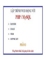 Biến (variables) và các phép thử biến _ PHP