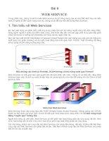 Bài 8: WEB SERVICE