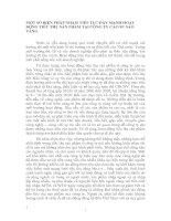 MỘT SỐ BIỆN PHÁP NHẰM TIẾP TỤC ĐẨY MẠNH HOẠT ĐỘNG TIÊU THỤ SẢN PHẨM TẠI CÔNG TY CAO SU SAO VÀNG