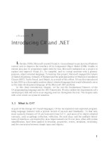 Introducing C# and .NET