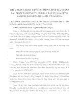 THỰC TRẠNG HẠCH TOÁN CHI PHÍ VÀ TÍNH GIÁ THÀNH SẢN PHẨM TẠI CÔNG TY CỔ PHẦN ĐẦU TƯ XÂY DỰNG VÀ KINH DOANH NƯỚC SẠCH- VINACONEX