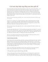 Các bước thực hiện hợp đồng mua bán quốc tế