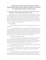 NHẬN XÉT VÀ KIẾN NGHỊ CÔNG TÁC KẾ TOÁN NGUYÊN LIỆU VẬT LIỆU VÀ CÔNG CỤ DỤNG CỤ TẠI CÔNG TY TNHH CÔNG NGHỆ TIN HỌC HÀ NỘI