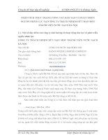 PHÂN TÍCH THỰC TRẠNG CÔNG TÁC ĐÀO TẠO VÀ PHÁT TRIỂN NGUỒN NHÂN LỰC TẠI CÔNG TY TRÁCH NHIỆM HỮU HẠN MỘT THÀNH VIÊN NƯỚC SẠCH HÀ NỘI