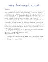 Hướng dẫn sử dụng Orcad cơ bản