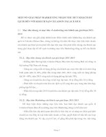 MỘT SỐ GIẢI PHÁP MARKETING NHẰM THU HÚT KHÁCH DU LỊCH ĐẾN VỚI KHÁCH SẠN CELADON PALACE HUE