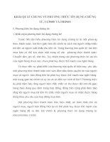 KHÁI QUÁT CHUNG VỀ PHƯƠNG THỨC TÍN DỤNG CHỨNG TỪ