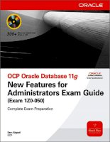 OCP Oracle Database 11g New Features Exam Guide P1