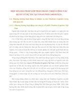 MỘT SỐ GIẢI PHÁP GÓP PHẦN HOÀN THIỆN CÔNG TÁC QUẢN LÝ DỰ ÁN TẠI VINALINES LOGISTICS