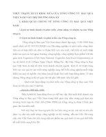 THỰC TRẠNG XUẤT KHẨU DỨA CỦA TỔNG CÔNG TY  RAU QUẢ VIỆT NAM VÀO THỊ TRƯỜNG HOA KỲ