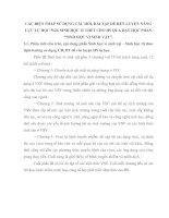 CÁC BIỆN PHÁP SỬ DỤNG CÂU HỎI, BÀI TẬP ĐỂ RÈN LUYỆN NĂNG LỰC TỰ HỌC SGK SINH HỌC 10 THPT CHO HS QUA DẠY HỌC PHẦN SINH HỌC VI SINH VẬT