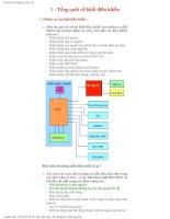 Chương 4: Tổng quát về khối điều khiển
