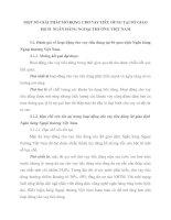 MỘT SỐ GIẢI PHÁP MỞ RỘNG CHO VAY TIÊU DÙNG TẠI SỞ GIAO DỊCH  NGÂN HÀNG NGOẠI THƯƠNG VIỆT NAM