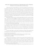 HIỆU QUẢ THANH TOÁN QUỐC TẾ THEO PHƯƠNG THỨC TÍN DỤNG CHỨNG TỪ CỦA NGÂN HÀNG THƯƠNG MẠI
