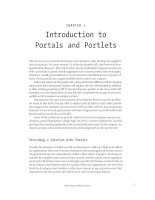 Introduction to Portals and Portlets