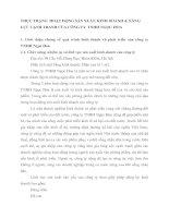 THỰC TRẠNG  HOẠT ĐỘNG SẢN XUẤT, KINH DOANH & NĂNG LỰC CẠNH TRANH CỦA CÔNG TY  TNHH NGỌC HOA