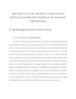 THỰC TRẠNG CỦA VIỆC XÂY DỰNG VÀ KHAI THÁC SỬ DỤNG CỦA CÁC KHU CÔNG NGHIỆP TẠI  HÀ NỘI TRONG THỜI GIAN QUA