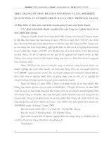 THỰC TRẠNG TỔ CHỨC KẾ TOÁN BÁN HÀNG VÀ XÁC ĐỊNH KẾT        QUẢ Ở CÔNG TY CỔ PHẦN THUỐC LÁ VÀ THỰC PHẨM BẮC GIANG