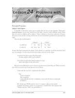 Grammar And Usage For Better Writing - Problems with Pronouns