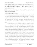 MỘT SỐ BIỆN PHÁP NÂNG CAO HIỆU QUẢ HOẠT ĐỘNG SẢN XUẤT KINH DOANH TẠI CÔNG TY TNHH MỘT THÀNH VIÊN CẢNG HẢI PHÒNG