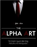 Alpha art - Trở thành người đàn ông mọi phụ nữ mong ước