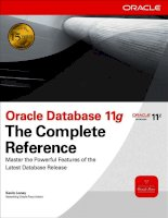 Oracle Database 11g The Complete Reference P1
