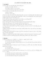 Câu Hỏi Ôn Tập HK I CN 12