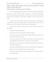 THỰC TRẠNG HOẠT ĐỘNG SẢN XUẤT KINH DOANH Ở TỔNG CÔNG TY CHÈ VIỆT NAM