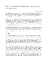 Quản lý các mạng Windows dùng script - Phần 5: Vượt qua thử thách