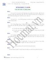 Các bài toán về phép đếm (Bài tập và hướng dẫn giải)