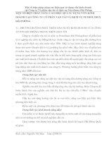 MỘT SỐ BIỆN PHÁP NÂNG CAO HIỆU QUẢ SỬ DỤNG VỐN KINH DOANH TẠI CÔNG TY CỔ PHẦN VẬN TẢI VÀ DỊCH VỤ PETROLIMEX HẢI PHÒNG