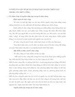 CƠ SỞ LÝ LUẬN VỀ QUẢN LÝ ĐÀO TẠO NGUỒN NHÂN LỰC TRONG TỔ CHỨC CÔNG