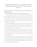 KẾ HOẠCH CHUYỂN DỊCH CƠ CẤU NGÀNH KINH TẾ Ở NƯỚC TA THỜI KỲ KẾ HOẠCH 5 NĂM (2001 - 2005) VÀ MỘT SỐ GIẢI PHÁP THỰC HIỆN