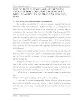 MỘT SỐ ĐỊNH HƯỚNG VÀ GIẢI PHÁP NHẰM THÚC ĐẨY HOẠT ĐỘNG KINH DOANH XUẤT KHẨU CỦA CÔNG TY CỔ PHẦN VĂN HÓA TÂN BÌNH