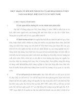 THỰC TRẠNG VỀ ĐỔI MỚI NỘI DUNG CỦA KẾ HOẠCH HOÁ Ở VIỆT NAM GIAI ĐOẠN  HIỆN NAY VÀ CÁC KIẾN NGHỊ