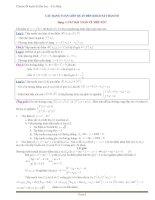 Chuyên đề luyện thi đại học   cao đẳng   các dạng toán liên quan đến khảo sát hàm số