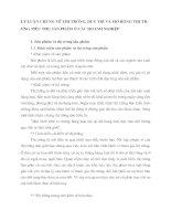 LÝ LUẬN CHUNG VỀ THỊ TRƯỜNG, DUY TRÌ VÀ MỞ RỘNG THỊ TRƯỜNG TIÊU THỤ SẢN PHẨM Ở CÁC DOANH NGHIỆP