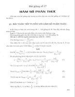Bài giảng 17: Hàm số phân thức
