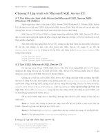 Lập trình với microsoft SQL server CE