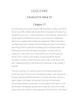 LUYỆN ĐỌC TIẾNG ANH QUA TÁC PHẨM VĂN HỌC-JANE EYRE CHARLOTTE BRONTE Chapter 17