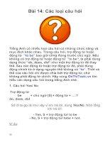 Ngữ pháp tiếng anh ôn thi toeic - Các loại câu hỏi