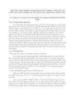 MỘT SỐ Ý KIẾN KHIẾN NGHỊ NHẰM HOÀN THIỆN CÔNG TÁC TỔ CHỨC KẾ TOÁN NGHIỆP VỤ TÍN DỤNG TẠI  NHNOPTNT DIỄN CHÂU