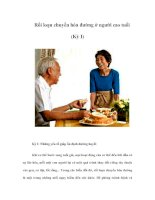 Rối loạn chuyển hóa đường ở người cao tuổi (Kỳ I)
