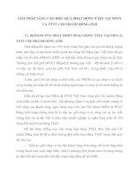 GIẢI PHÁP NÂNG CAO HIỆU QUẢ HOẠT ĐỘNG TTQT TẠI NHNN VÀ  PTNT CHI NHÁNH ĐÔNG ANH