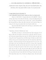 PHÂN TÍCH THỰC TRẠNG CÔNG TÁC DUY TRÌ VÀ MỞ RỘNG THỊ TRƯỜNG TIÊU THỤ SẢN PHẨM Ở CÔNG TY CƠ KHÍ HÀ NỘI