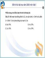 Đề thi thử đại học Vật Lý 2009 Phần 3